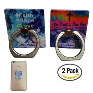 NewEights Cell Phone Rings (2-Pack) - Christian Theme (Multicolor)