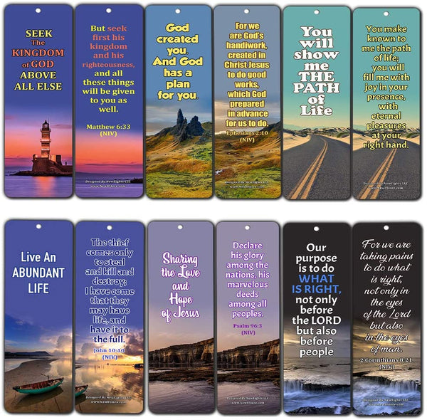 Bible Verses About Life Purpose (60 Pack) - Perfect Giveaways for Sunday School and Ministries