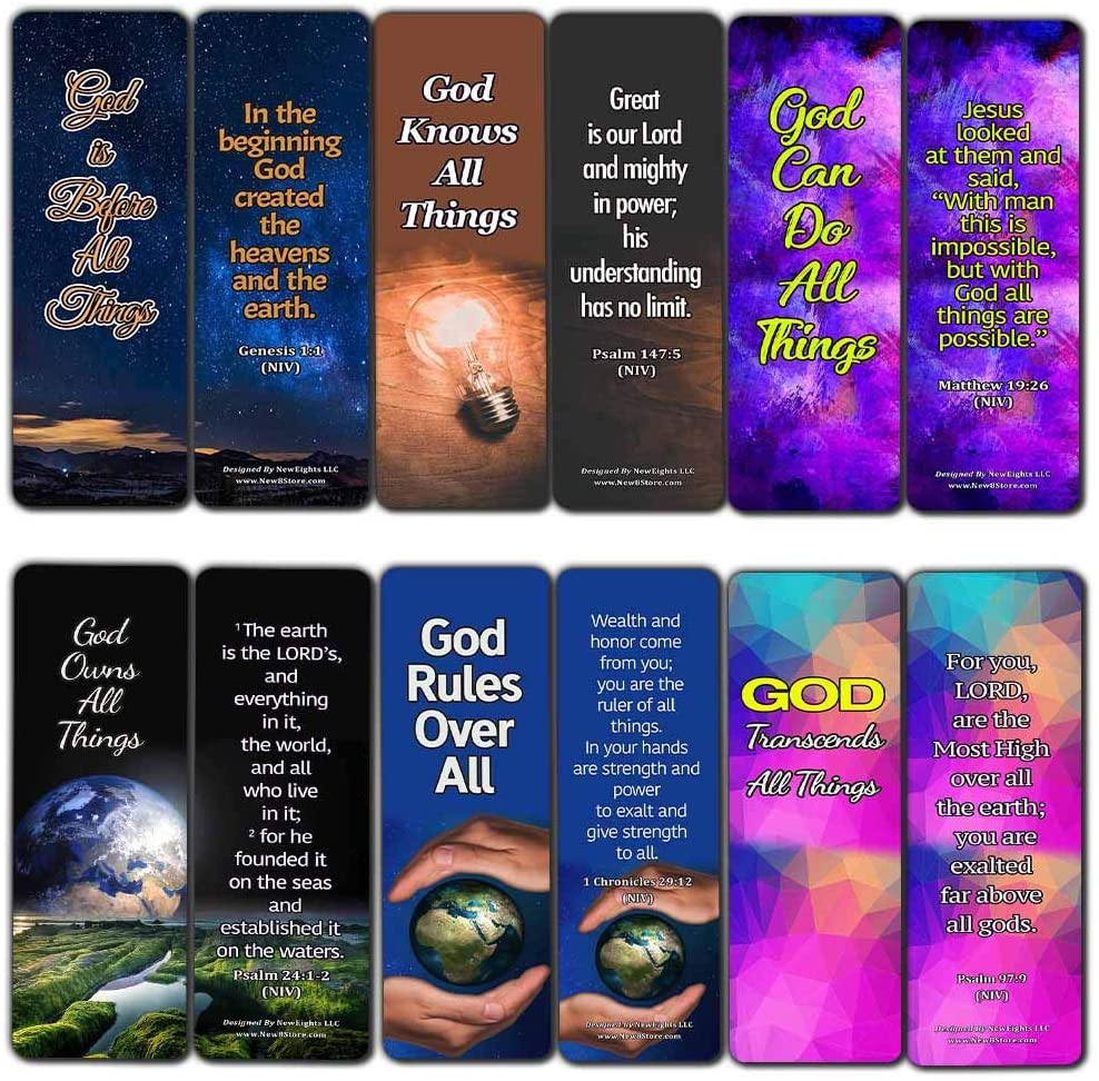 Sovereignty of God Bible Scriptures Bookmarks (60 Pack) - Perfect Giveaways for Sunday School and Ministries