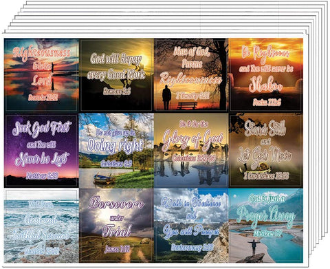 Righteousness & God's Rewards (20-Sheet) - Great Giftaway Stickers for Ministries