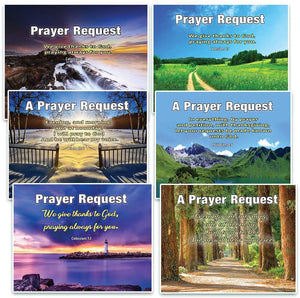 Prayer Request Pew Cards (60-Pack) - NEPC1040 Scenery - Track Down Prayer Request Efficiently