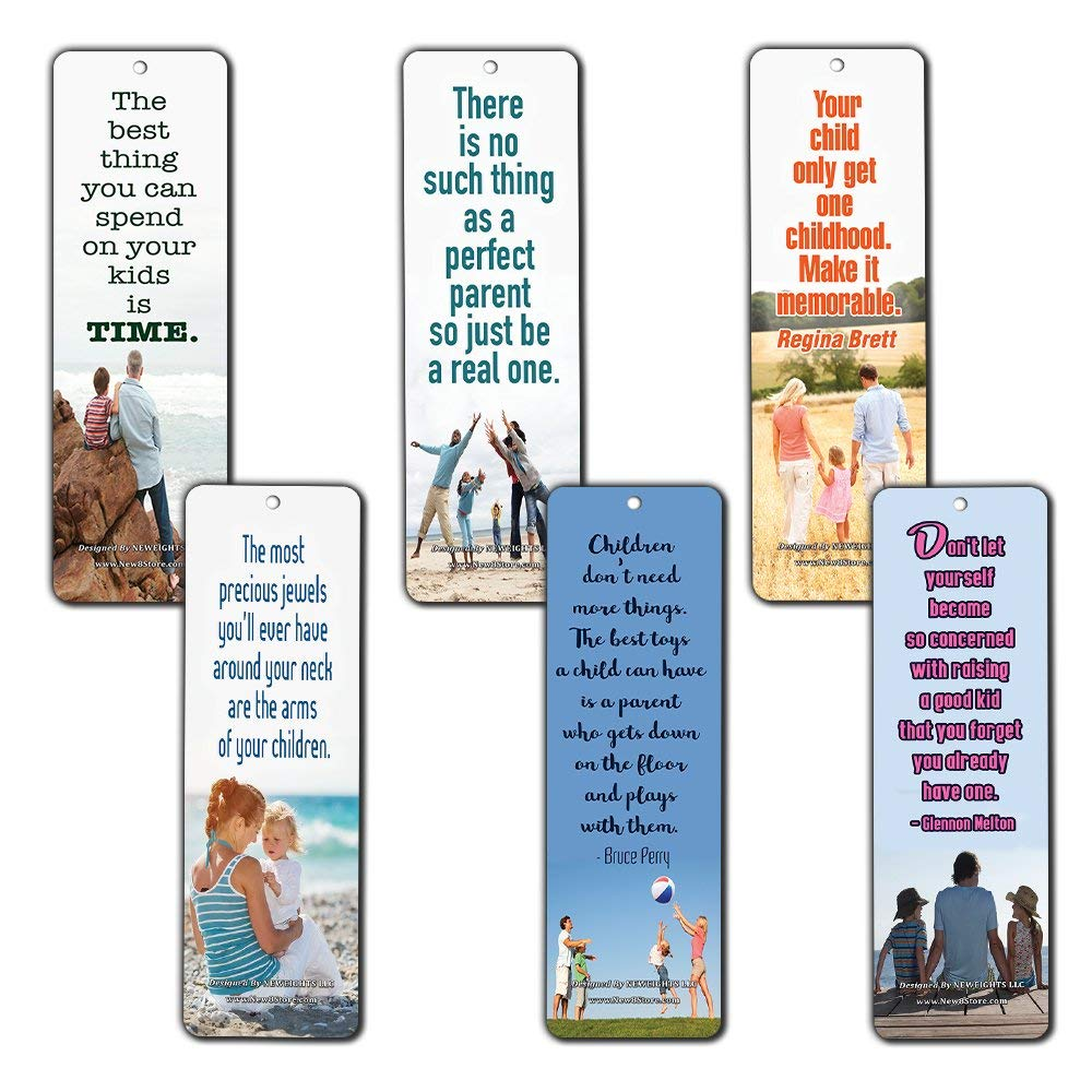 Bookmarks For Books Part - 23: ... Family Quotes Parenting Love Bookmarks (60-Pack) - Bookmarks For Books  - Parents ...