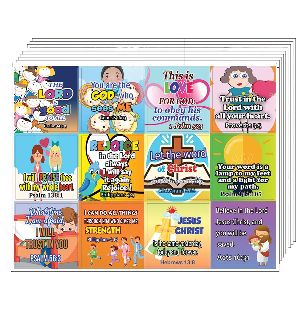 Short Bible Verses Stickers for Kids