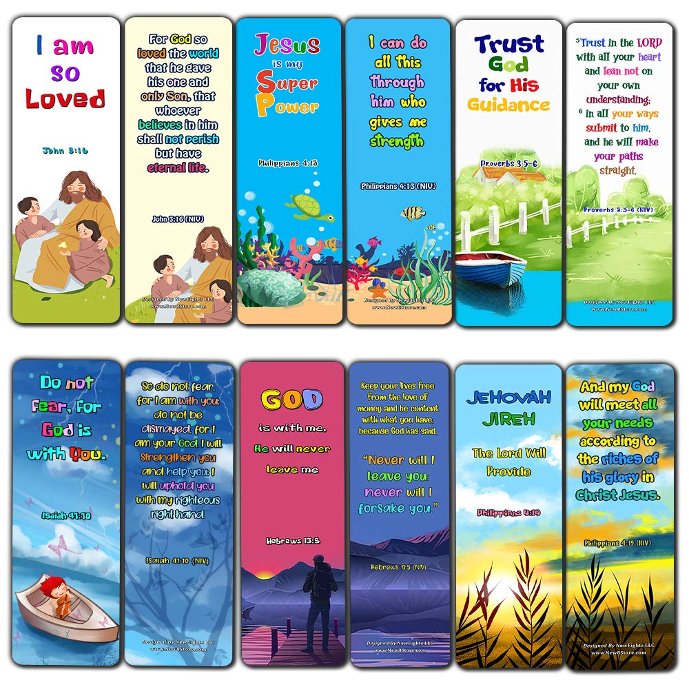 Christian Bookmarks for Kids - Life Changing