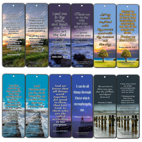 Powerful Bible Verses to Live by Bookmarks KJV