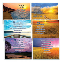 Christian Inspirational Postcards - Psalms KJV Postcards - Christian Bible Theme Collection & Gift with Inspirational, Motivational, Encouraging Scripture based Messages