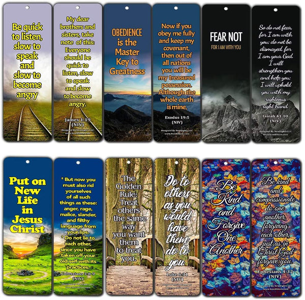 Life Changing Wisdom from God Bible Bookmarks (60 Pack) - Perfect Giveaways for Sunday School and Ministries Designed to Inspire Women and Men