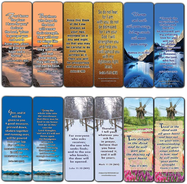 God's Promises Bible Verses Bookmarks (60-Pack)