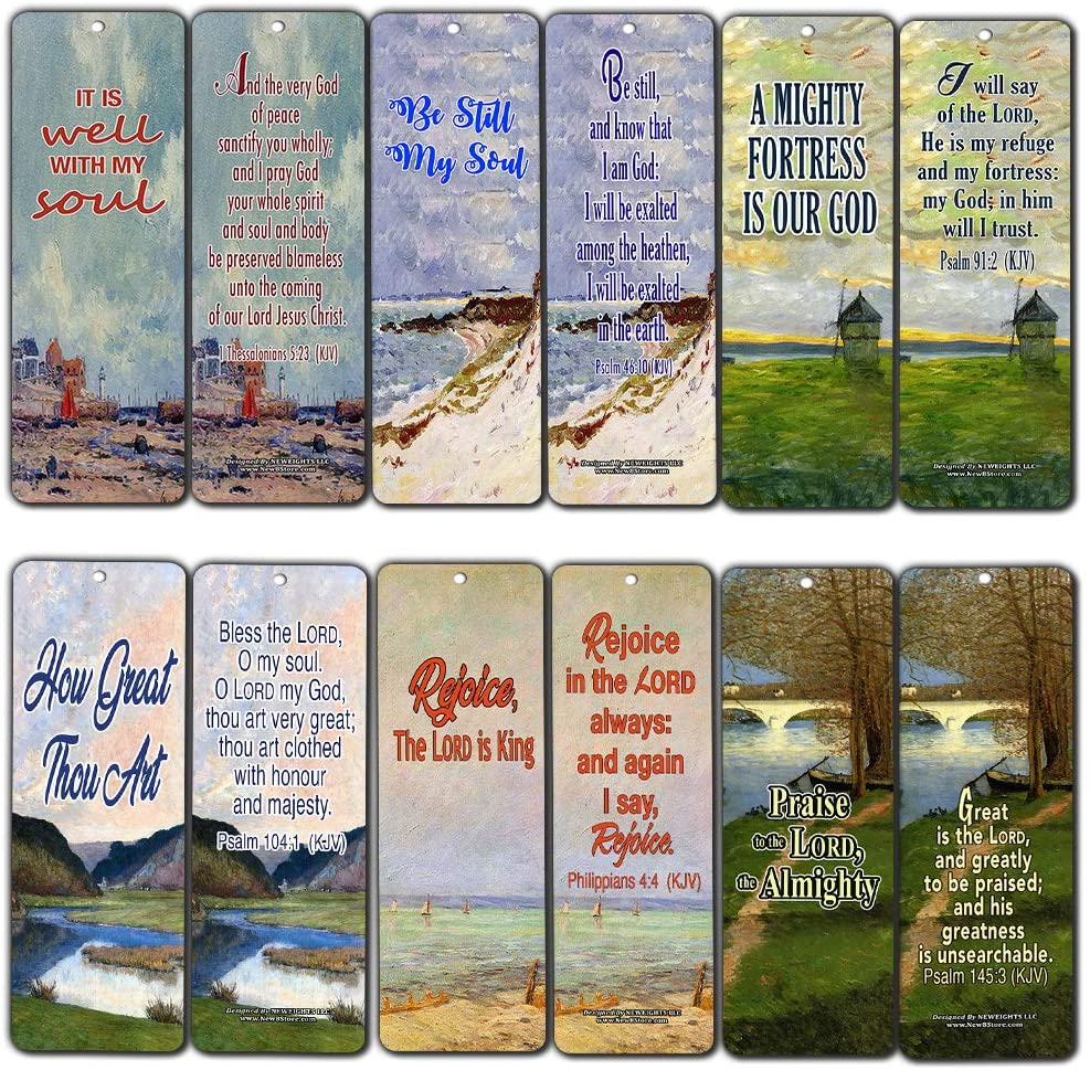 Be Still My Soul Religious Bookmarks Cards (60-Pack) - Stocking Stuffers for Men Women Baptism, Youth Group, Cell Group, VBS Bible Study, Mission Trip - Best Church Supplies