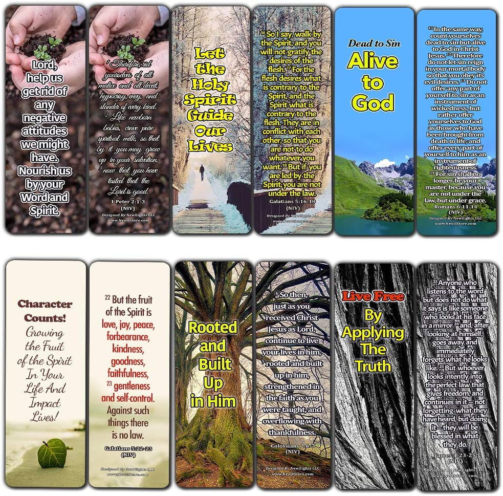 Powerful Bible Verses Bookmarks - Spiritual Growth (30-Pack) - Great Bible Text Compilation that is Handy and Easy To Bring Along With