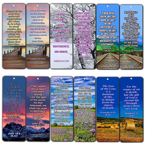 Life Bible Verses Bookmarks KJV