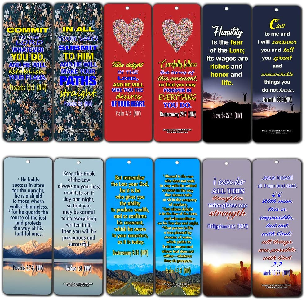 Success Bible Verses Bookmarks NIV (30-Pack) - Great Bible Text Compilation About Success in Bible Perspective