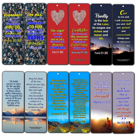 Success Bible Verses Bookmarks NIV
