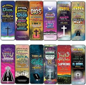 Spanish Victory in Christ Bookmarks (30-Pack) - Stocking Stuffers for Boys Girls - Children Ministry Bible Study Church Supplies Teacher Classroom Incentives Gift
