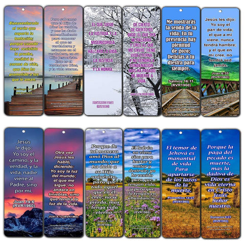 Spanish Life Bible Verses Bookmark