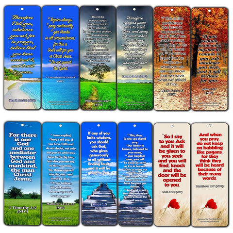 Bible Texts to Strengthen Prayer Life Bookmarks