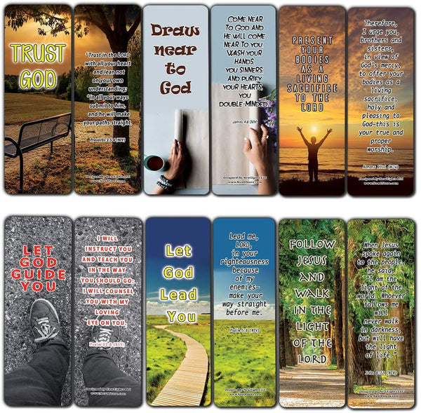 Bible Verses on Surrender to God Bookmarks (30-Pack) - Handy Reminder About Surrendering to God