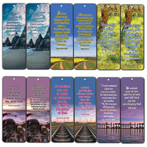 Inspirational Bible Verses Bookmarks (Worship)