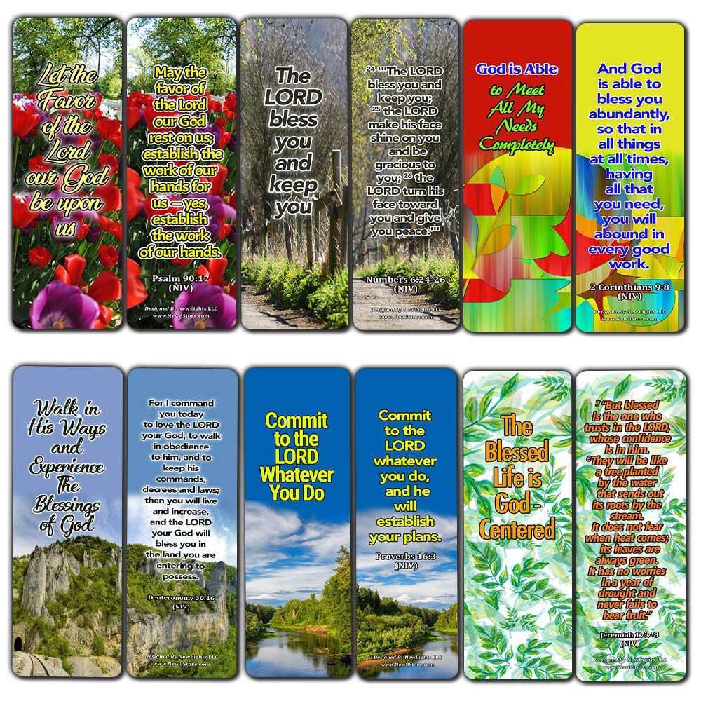 Powerful Bible Verses Bookmarks - Blessings