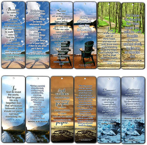 Most Highlighted Bible Verses Bookmarks Cards Bulk Set - KJV Version (60-Pack)- Religious Christian Inspirational Gifts to Encourage Men Women Boys Girls - Bible Study Sunday School War Room Decor