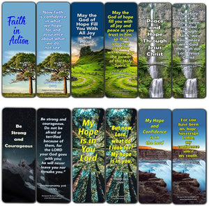 Bible Verses Bookmarks About Hope: Staying Positive In The Midst of Hardship (30 Pack) - Give You Home During Darkest Times