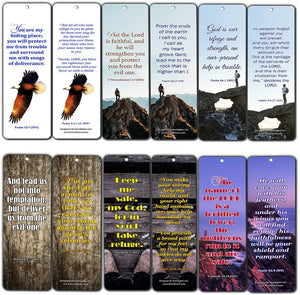 Powerful Scriptures for Protection Safety Bookmark Cards NIV (60-Pack) - oronavirus Protection Bible Promises - Stay Home Stay Safe - Keep Calm Trust God - Christian Encouragement Gifts for Men Women