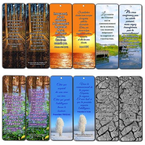 French Wisdom Bible Verse Bookmarks