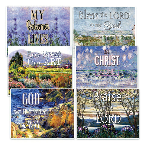 Christian Bible Verse Postcards - In Christ Alone