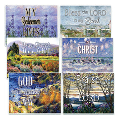 Christian Bible Verse Postcards - In Christ Alone (30-Pack) Christian Bible Theme Collection & Gift with Inspirational, Motivational, Encouraging Scripture based Messages