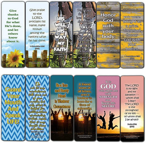 Devotional Bible Verses for Youth Bookmarks (60 Pack) - Perfect Giveaways for Sunday School and Ministries Designed to Inspire Teens and Young People