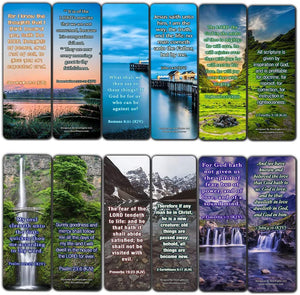 KJV Life Giving Bible Verses Bookmarks Cards (60-Pack)