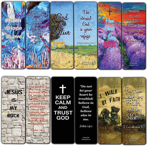 Scripture Bible Verses Bookmarks (60 Pack) - Perfect Gift away for Sunday Schools