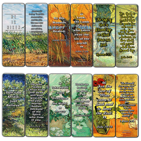 Bible Bookmarks Cards - Jesus has Risen (12 Pack)