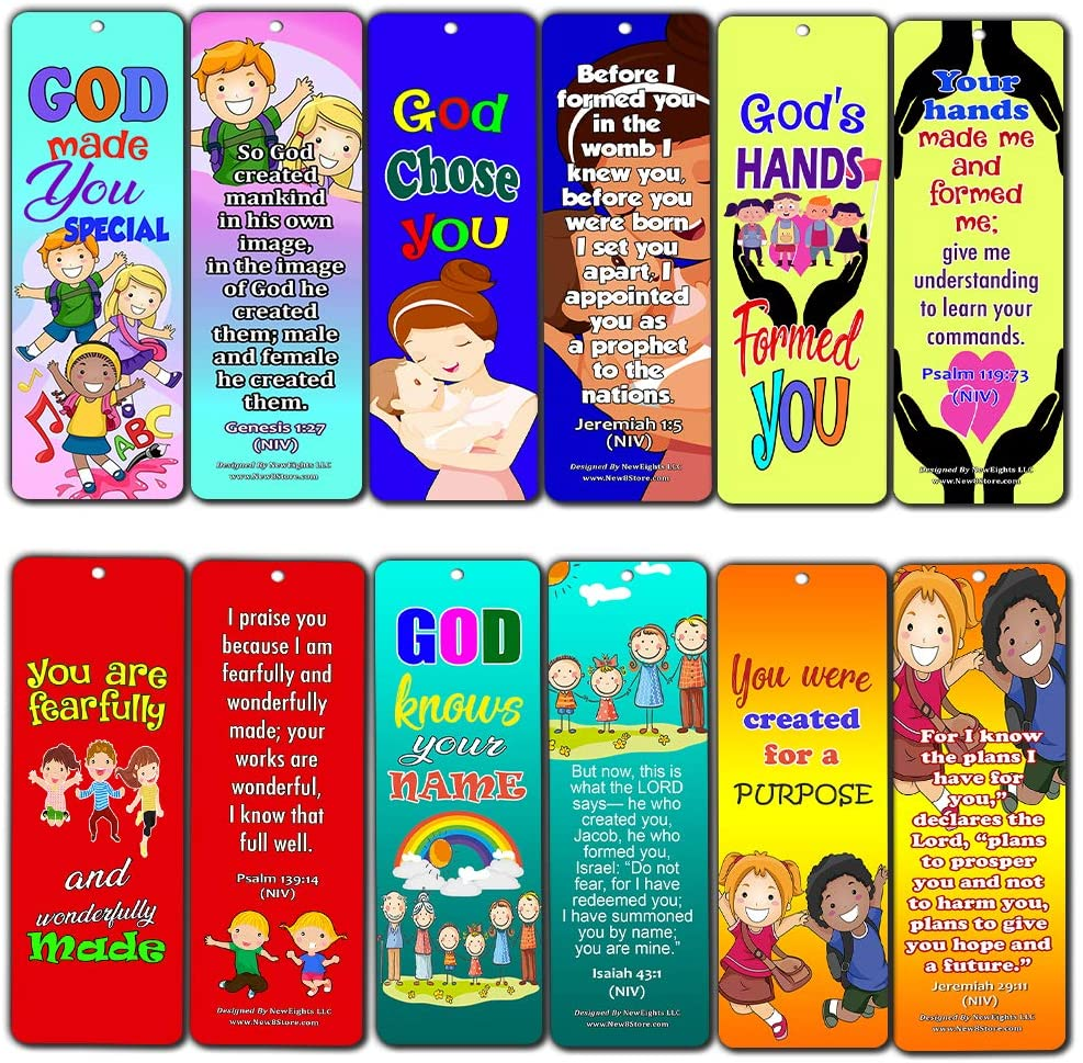 Children of God Bible Verses Bookmarks Cards (30-Pack) - Handy Memory Verses for Kids Perfect for Children?s Ministries and Sunday Schools