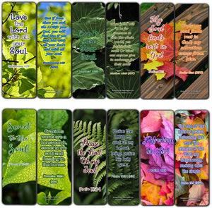 Inspirational Bible Verses about the Soul Bookmarks (60 Pack) - Perfect Gift away for Sunday School and Ministries - Stocking Stuffers Adoration Devotional Bible Study - Church Ministry Supplies Gifts