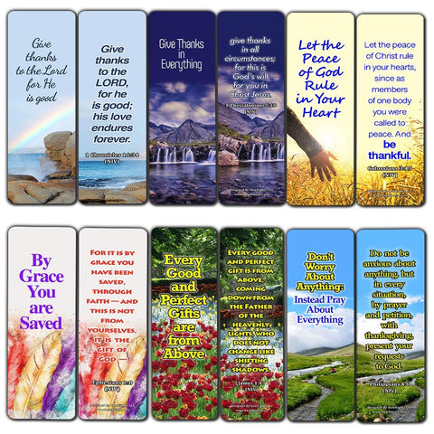 Thankful Bible Verses Bookmarks