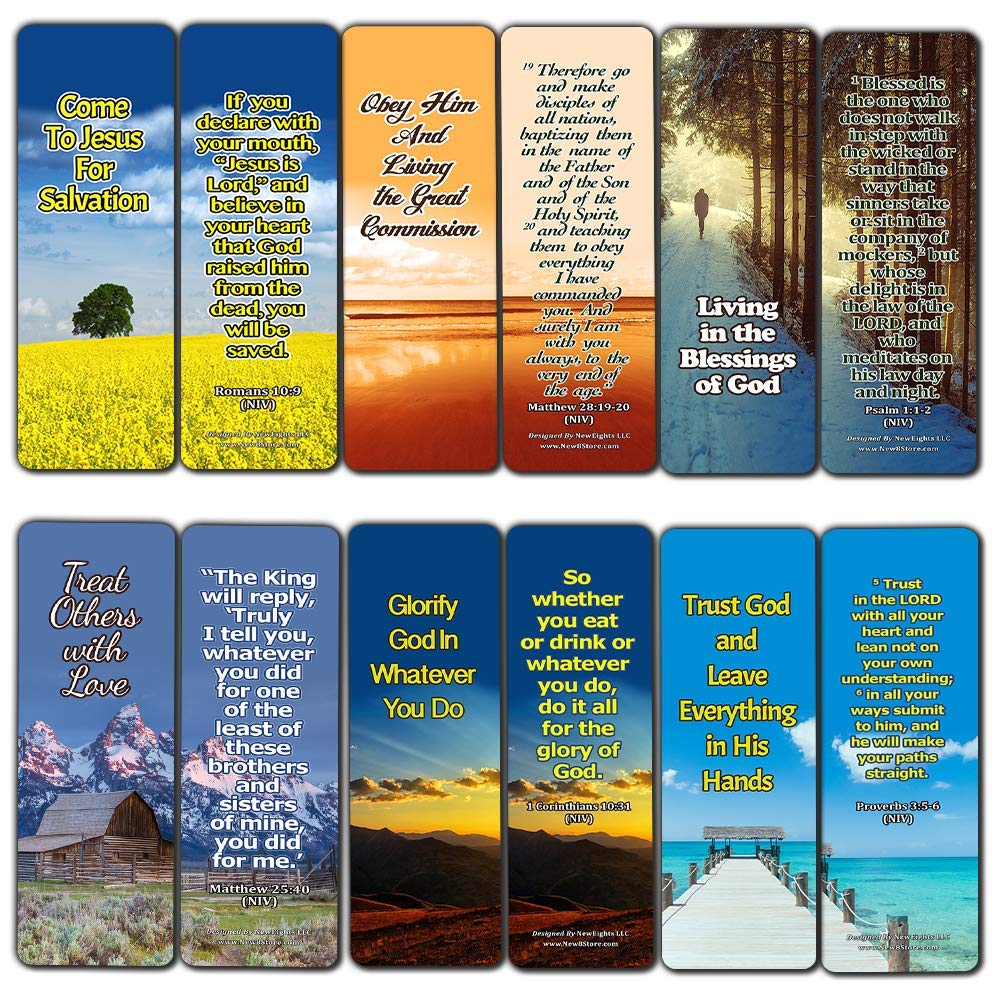 Top Bible Verses on God's Will Bookmarks