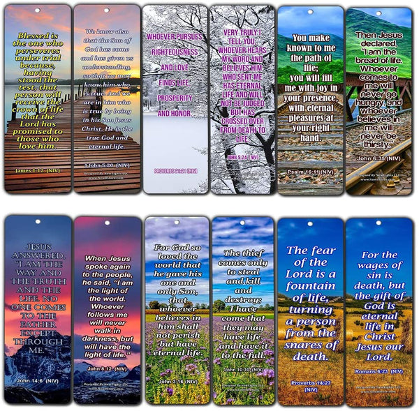 Life Bible Verses Bookmarks NIV (30 Pack) - Handy Reminder About God?s Grace