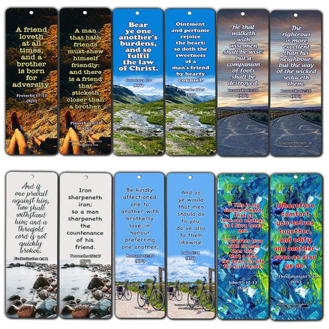 Scriptures Bookmarks - Friendship Bookmarks (KJV)