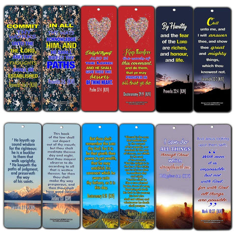 Success Bible Verses Bookmarks KJV