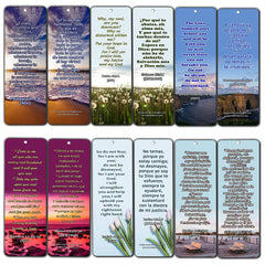 Bilingual Encouraging Bible Verses Bookmarks - Overcome Depression