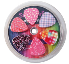 Guitar Picks for Girls Women Guitarist - Assorted Variety 12-Pack Collection Set - Pretty Unique Designs Cool Pink Leopard
