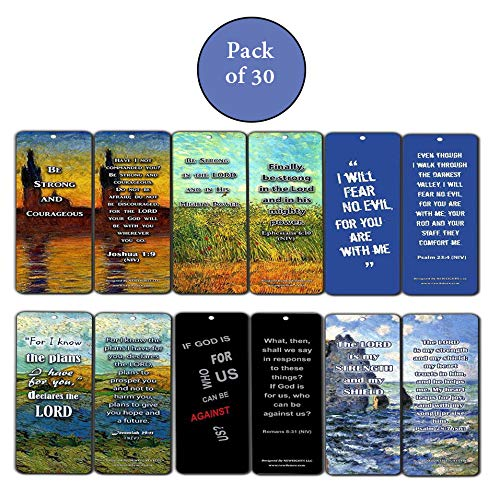 Christian Bible Bookmarks Cards - Be Strong (30-Pack) - Jeremiah 29:11 - Great Gift for Birthday, Easter, Thanksgiving, Christmas, Everyday - Great Reminder God's Protection