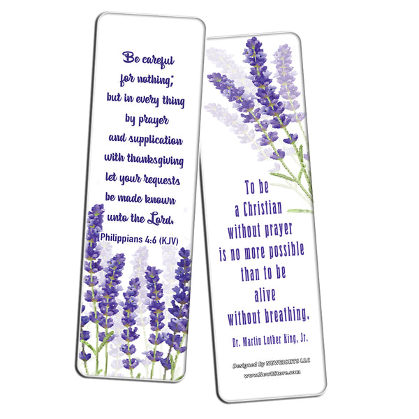 Christian Prayer Inspirational Bookmarks Cards KJV (60-Pack) - The Lord's Prayer King James Version- Prayer Cards for Prayer Journal Book - Bible - Powerful War Room Decor