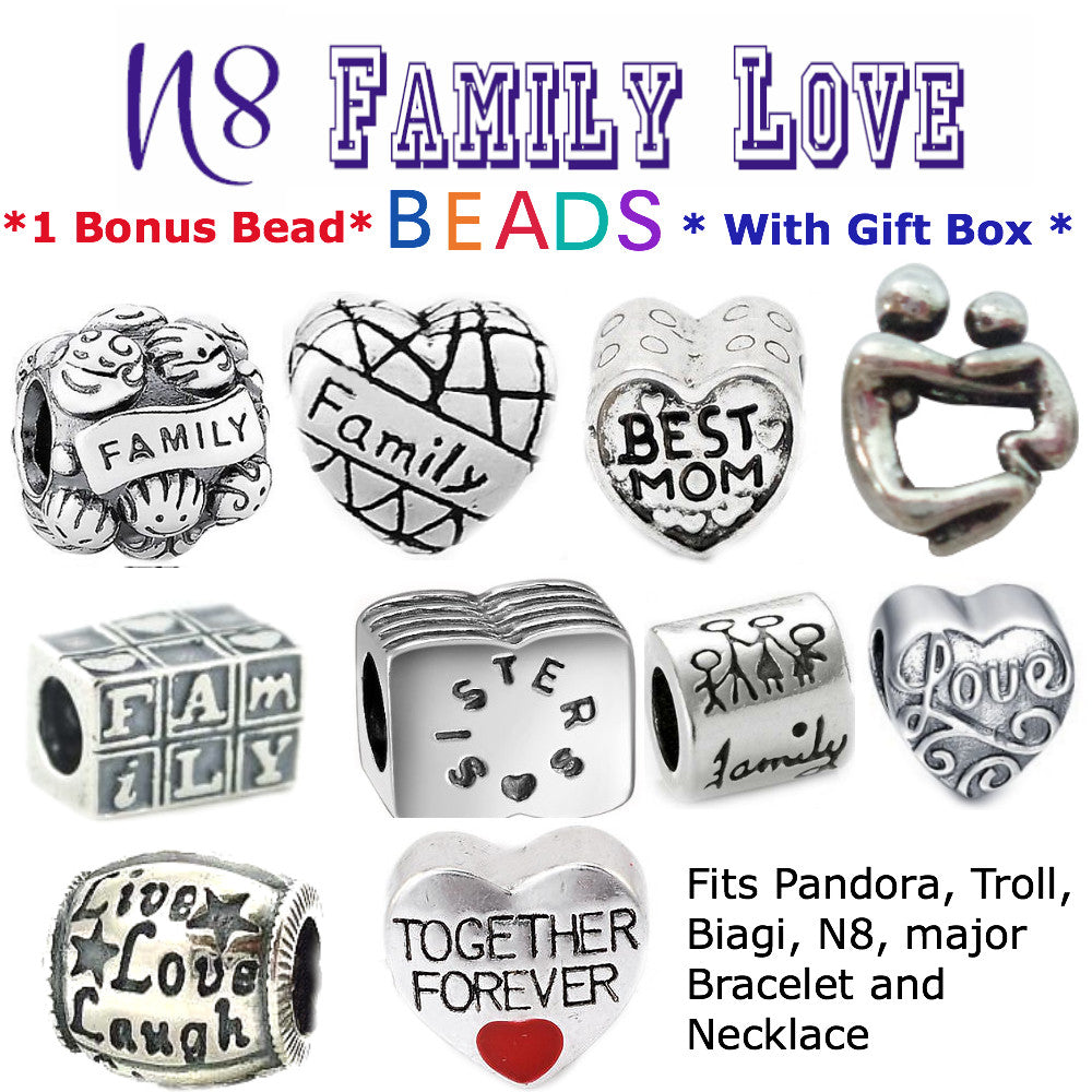 Family Love Together Beads Charms
