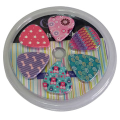 Girly Guitar Picks Set - Unique Colorful Designs - Best Gifts for Girls Kids Teens Daughter Granddaughter Niece Women