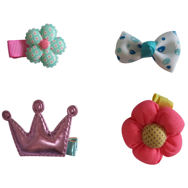 Charis Kid Hair Clips Barrettes Assorted Ribbon Bows Style C Series