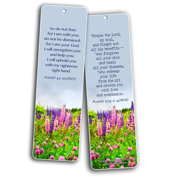 Popular Healing Bible Verses Bookmarks Cards (60-Pack) - God is Able to Heal You and Your Loved One - Physically Emotionally Spiritually - Best Encouragement Gifts for Men Women Teens Kids
