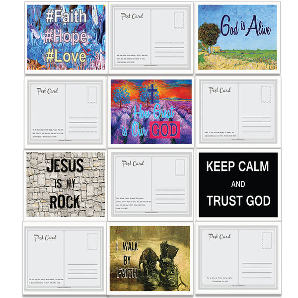 Assorted Christian Postcards Series 2