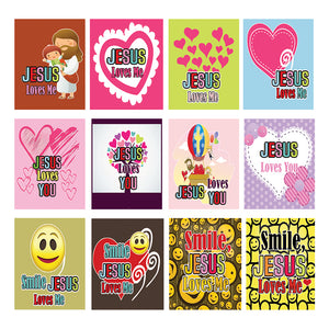 Jesus Loves You Stickers (5-sheets)